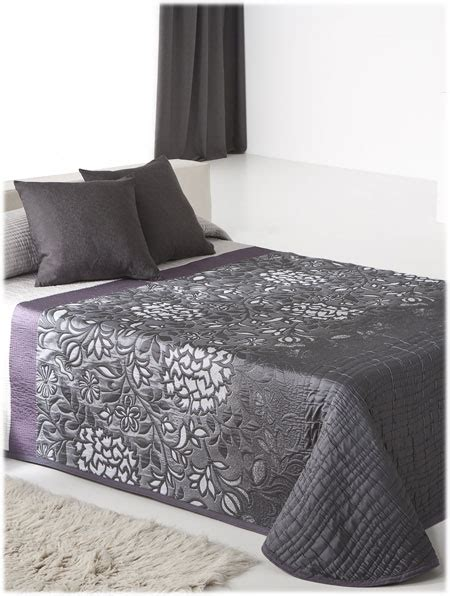 couvre lit gris anthracite couvre lit shirly anthracite reig marti