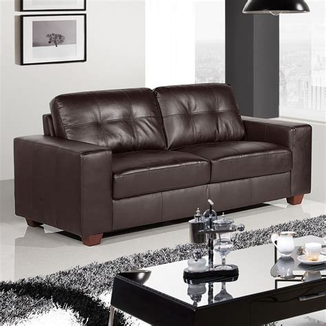 2 seater dark brown leather sofa strada dark brown leather sofa collection