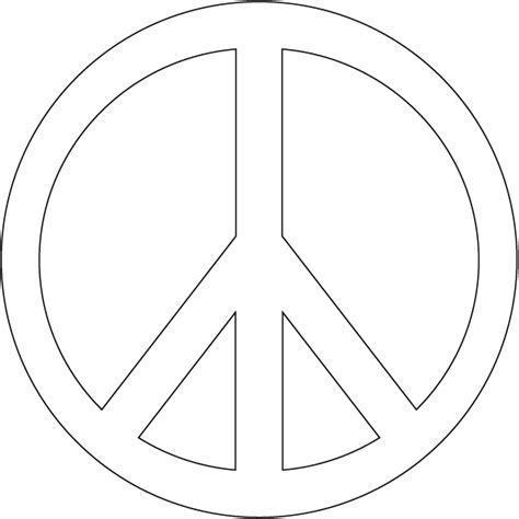 Free Coloring Pages Of Peace Sign Peace Sign Coloring Page