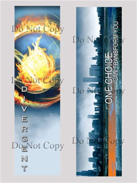 printable divergent bookmarks handmade divergent bookmark divergent fansite calin