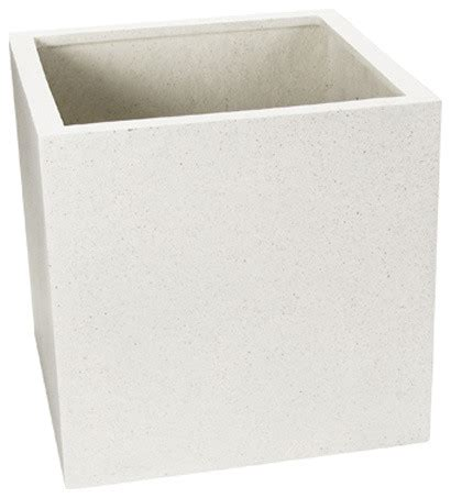 Fiberstone Square Planter Contemporary Indoor Pots And Square White Planter