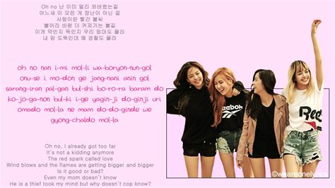 blackpink english lyrics blackpink playing with fire hangul english and easy