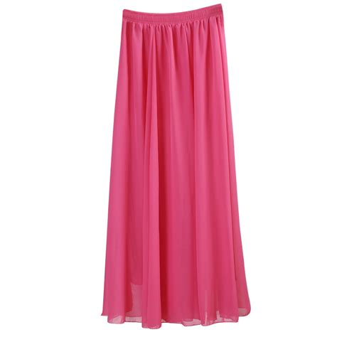 aliexpress buy wholesale chiffon skirts color pleated maxi skirts 2017