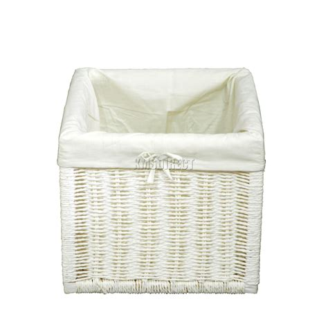 white storage bench with wicker baskets foxhunter wooden storage bench seat with 2 wicker basket