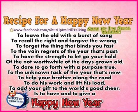 happy new year recipe a recipe for a happy new year pictures photos and images