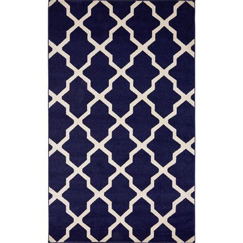navy blue trellis rug unique loom trellis navy blue 5 ft x 8 ft area rug 3116405 the home depot