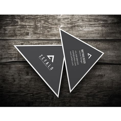 brandaid print store custom design business cards triangle