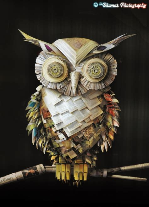 An Owl Papercraft At Bandung Car Free Day Canon Ae 1 - 30 stunning objects made only from paper top design