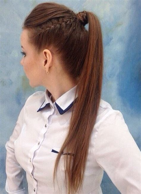 cute hairstyles for straight hair in a ponytail 22 cute ponytails for long medium length hair straight