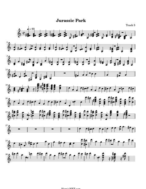 theme songs jurassic park jurassic park trumpet sheet music kafi website