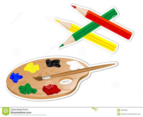 drawing tools pin painting tools vector gallery on