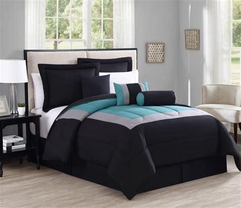 black and teal bedding sets 7 rosslyn black teal comforter set