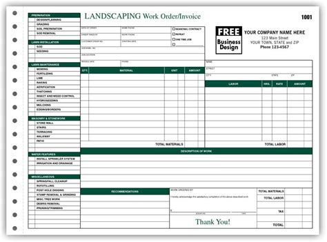 Landscape Estimate Templates Free Printable Joy Studio Landscaping Invoice Template