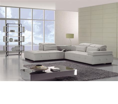 white sectional leather sofa modern dreamfurniture t90 modern white leather sectional sofa