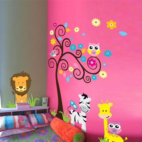 d馗oration chambre d enfants aliexpress com acheter girafe z 232 bre animaux stickers