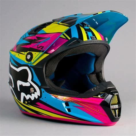 green motocross gear fox v1 undertow helmet green blue helmets pinterest