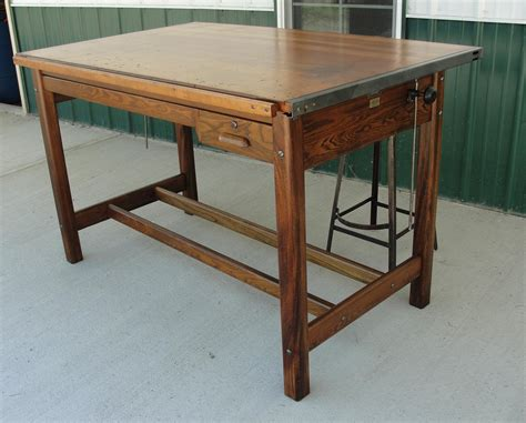 vintage kitchen island table vintage industrial hamilton drafting table kitchen island