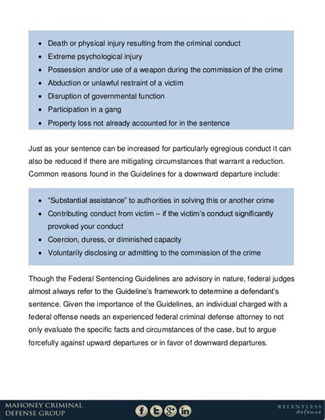 gbh sentencing guidelines section 20 understanding the federal sentencing guidelines