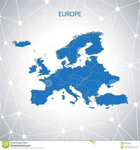 europe map communication background stock illustration