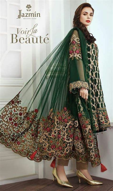jasmin chiffon latest dress  pakistani dresses