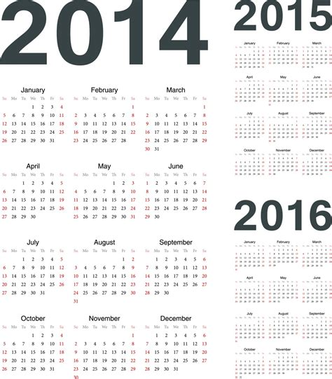 printable calendar 2015 through 2016 7 best images of 2014 2015 2016 printable yearly calendar