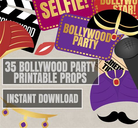 free printable movie themed photo booth props 35 bollywood photo booth props bollywood themed party