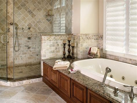 master bath remodels master bathroom remodel with natural stone and oversized