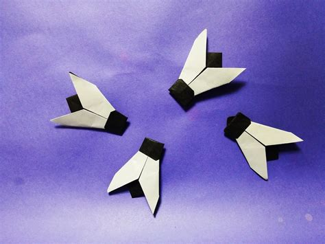 Origami Fly - 똥파리 종이접기 how to make paper origami fly origami
