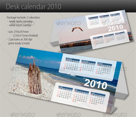 how to make a desk calendar in photoshop desk calendar 2010 graphicriver
