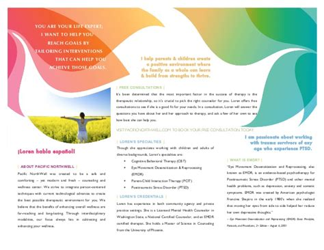 Counseling In Seattle Lorencita Villegas Brochure Part 2 Counseling Brochure Templates