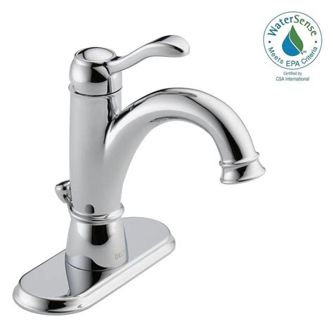 delta centerset single handle bathroom faucet