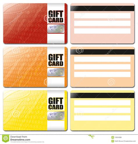 Gift Card Disclaimer - gift card template set 1 royalty free stock images image 13934389