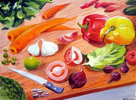 acrylic painting vegetables vegetables composition samiran sarkar artelista en