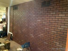 faux brick paneling from lowes hmmmm basement