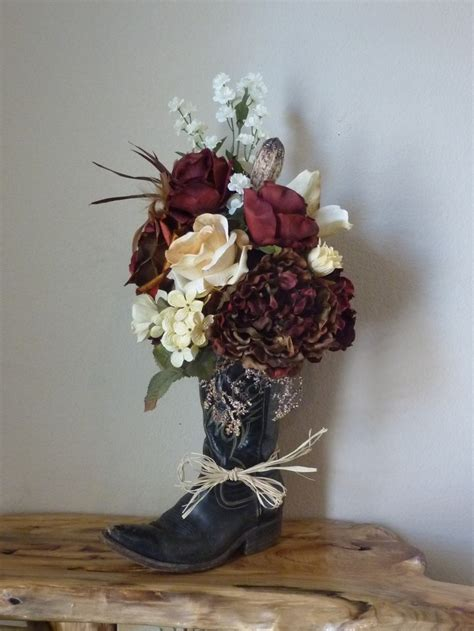 Cowboy Boot Vase Wedding Decorations by Upcycling With Style Great Projects Made From Boots