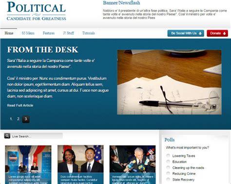 joomla political template 11 political candidate joomla templates free website