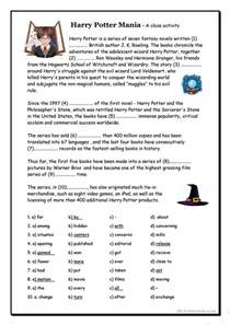 36 free esl harry potter worksheets