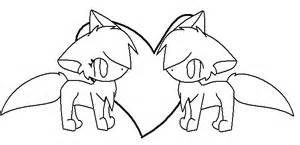 Two Cats Outline by Free Cat Outline By Umbreonfan11 On Deviantart