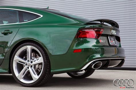 green bentley 2016 audi rs7 in verdant green looks like a bentley
