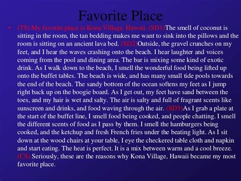 My Favourite Place Essay by Essay About My Favorite Place Descriptive Pdfeports867 Web Fc2