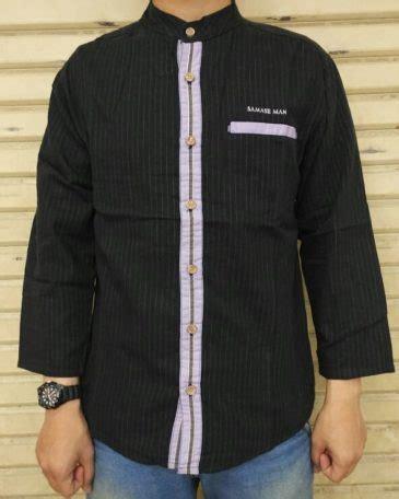 Baju Koko Ungu Band baju koko samase 1123 hitam lis kancing ungu pjg samase clothes