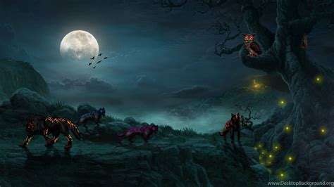 mystical backgrounds other wolf backgrounds moon mystical mist
