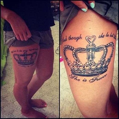 tattoos on thighs awesome crown thigh shortlist