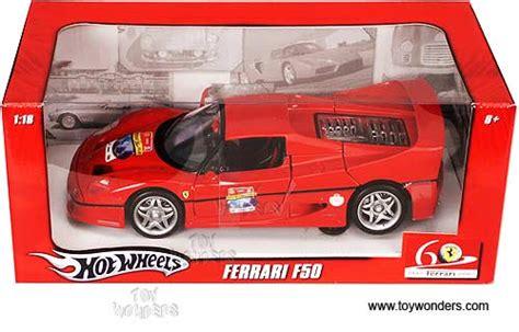 Wheels Racer F50 60th Anniversary mattel wheels 60th anniversary f50 top 1 18 scale diecast model car l2963