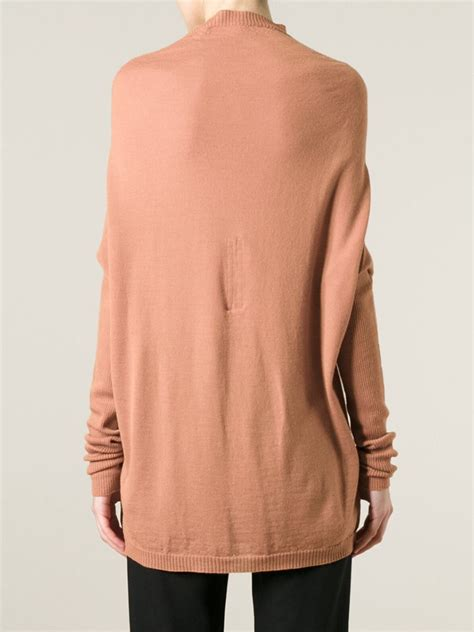 Sweater Ro lyst rick owens ro crater sweater in pink