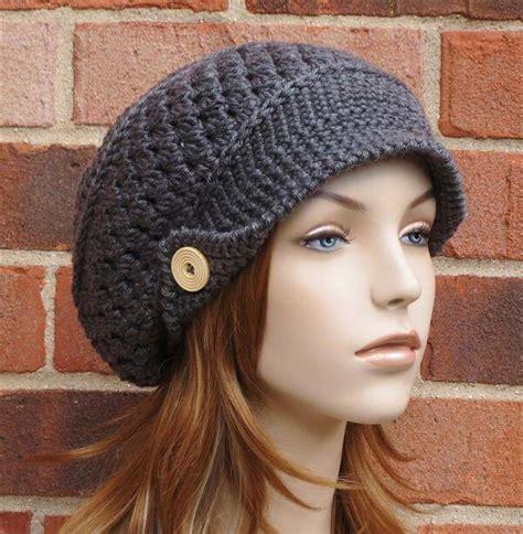 pattern for simple crochet hat crochet slouchy newsboy hat brimmed beanie 101 crochet