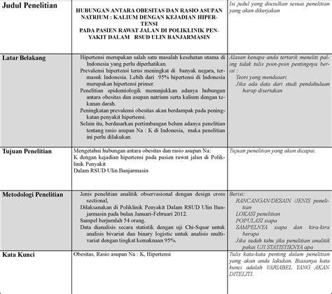 format analisis kritis jurnal contoh jurnal penelitian gizi contoh su