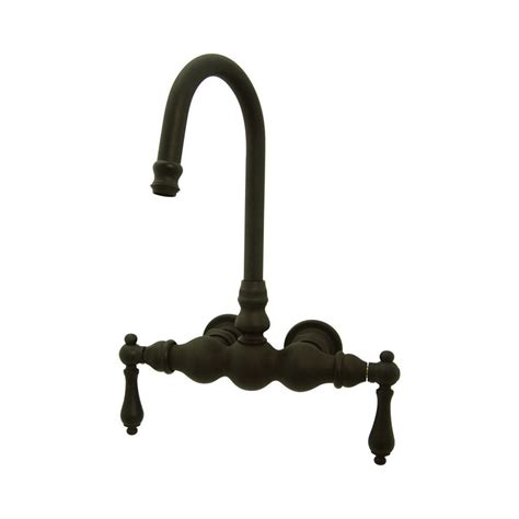 wall mounted bathtub faucets pmcshop shop elements of design vintage oil rubbed bronze 2 handle