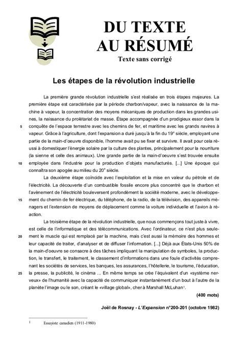 Resume Revolution Industrielle by Les 233 De La R 233 Volution Industriel
