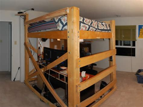 queen loft bed plans queen size bunk bed frame plans